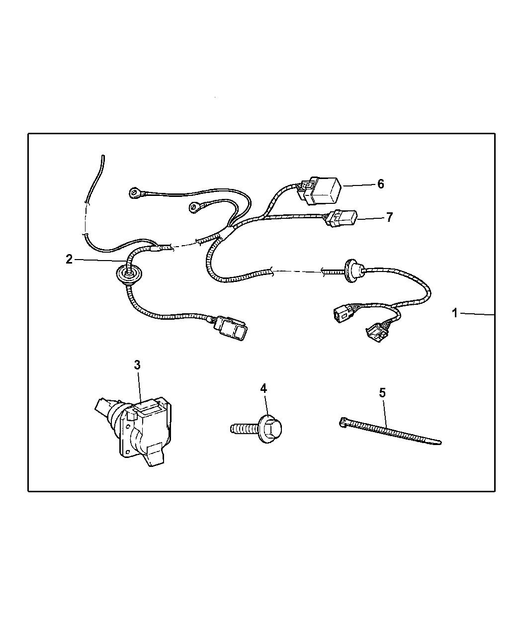 2009 Dodge Charger Wiring Kit Trailer Tow Mopar Parts Giant Diagram Thumbnail 2