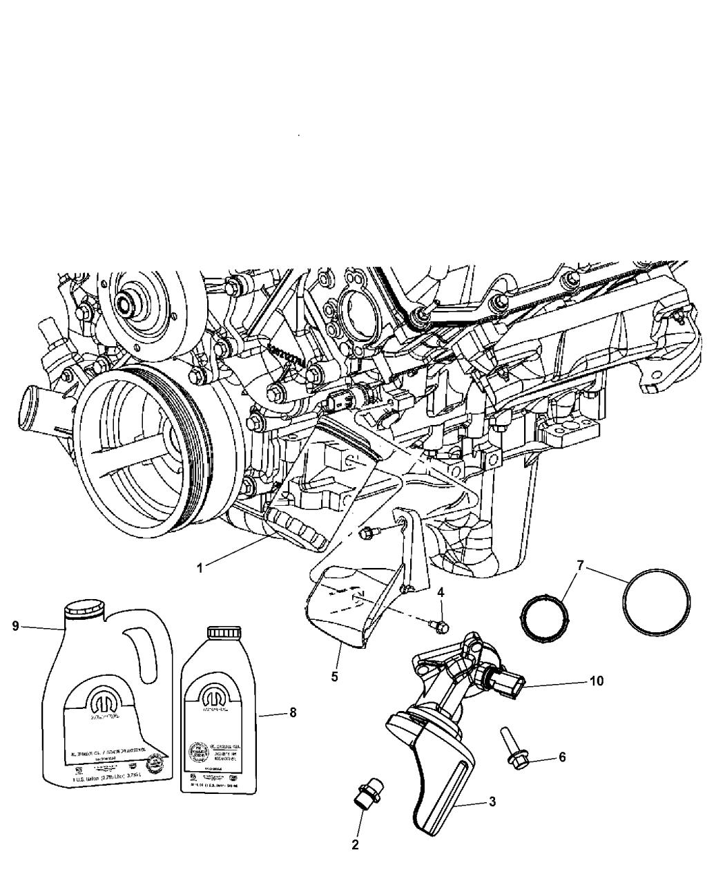 53013680ad Genuine Mopar Adapter Oil Filter