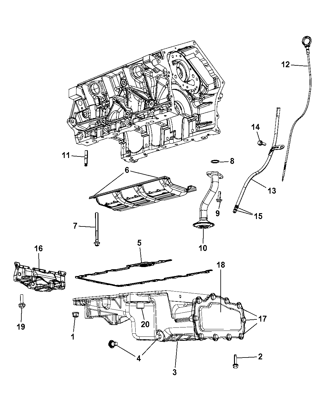 2009 Dodge Avenger Engine Oil Pan Level Indicator Diagram Related Parts Thumbnail