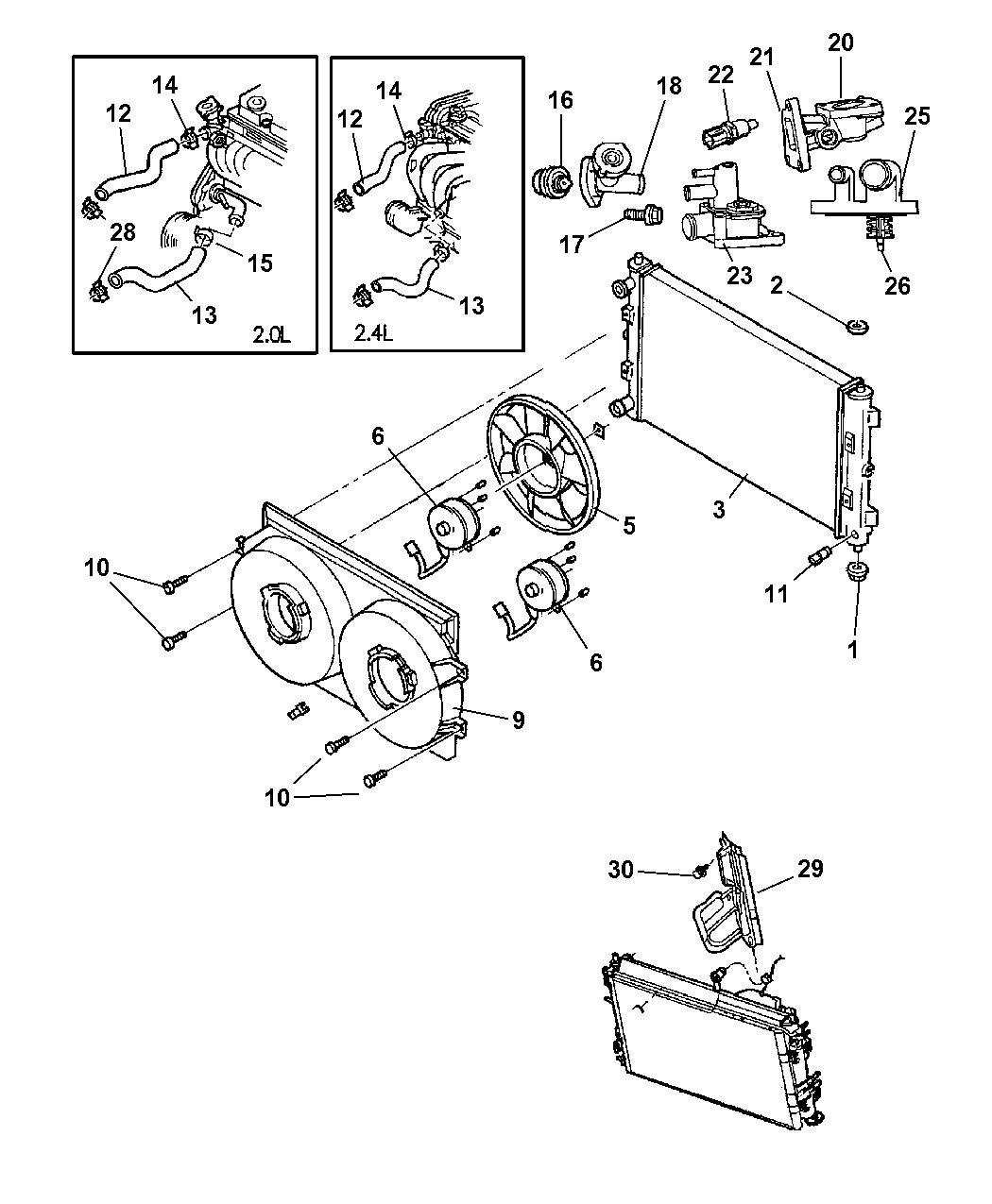 52079799AA - Genuine Mopar CAP-RADIATOR