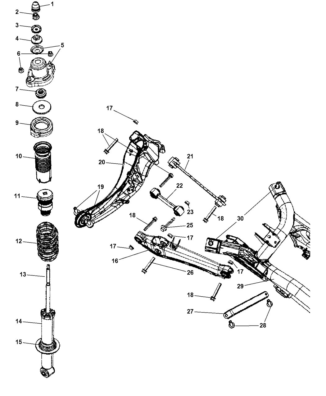 jeep suspension schematic m38 army jeep wiring schematic 68058866aa - genuine jeep *absorber-suspension