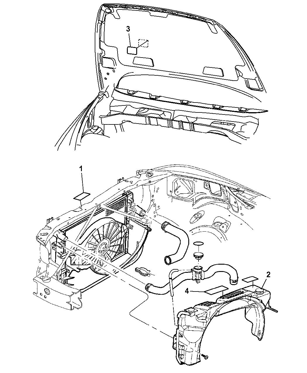 2007 Chrysler Aspen Engine Compartment