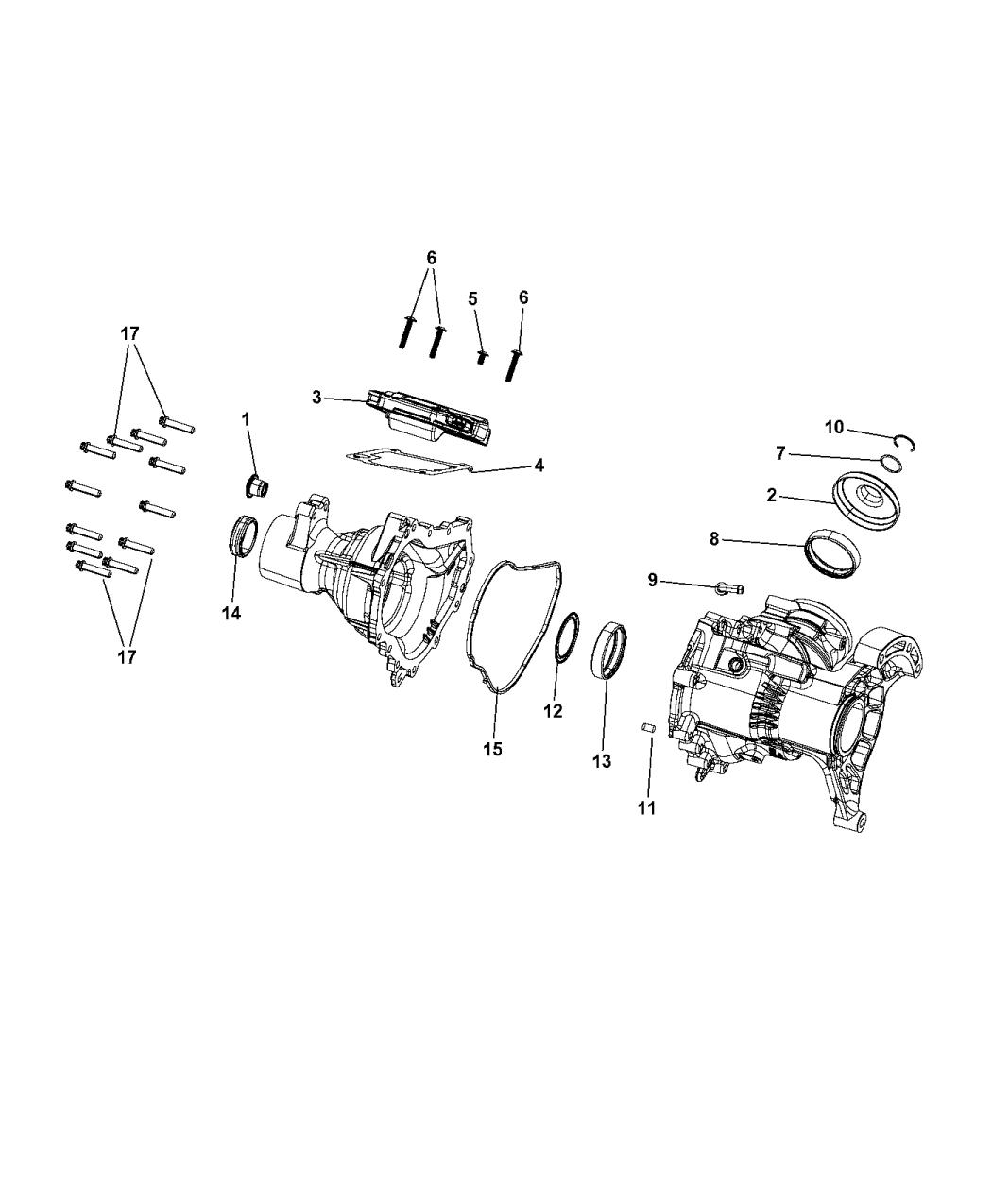 2015 Chrysler 200 Power Transfer Unit Service Parts