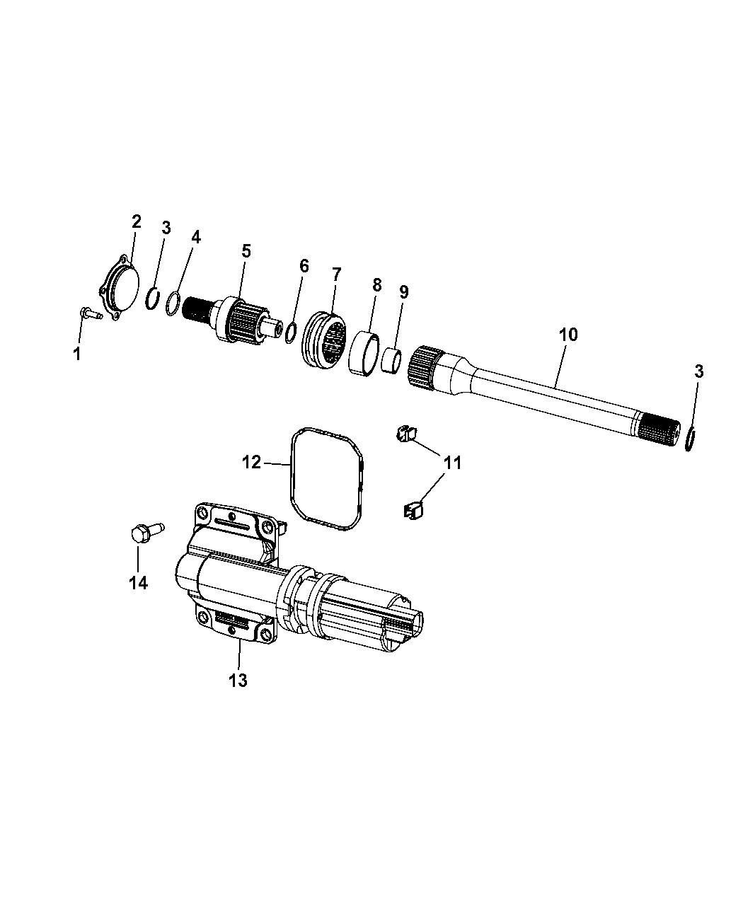 Genuine Chrysler 52114382AE Suspension Axle Shaft