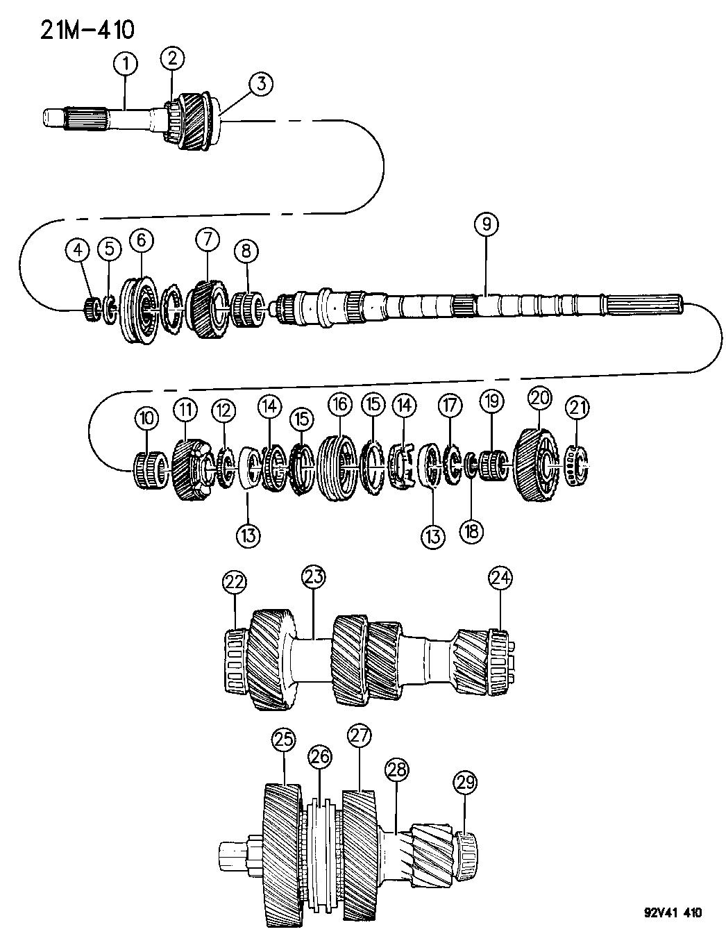 1994 Dodge Viper Gear Train