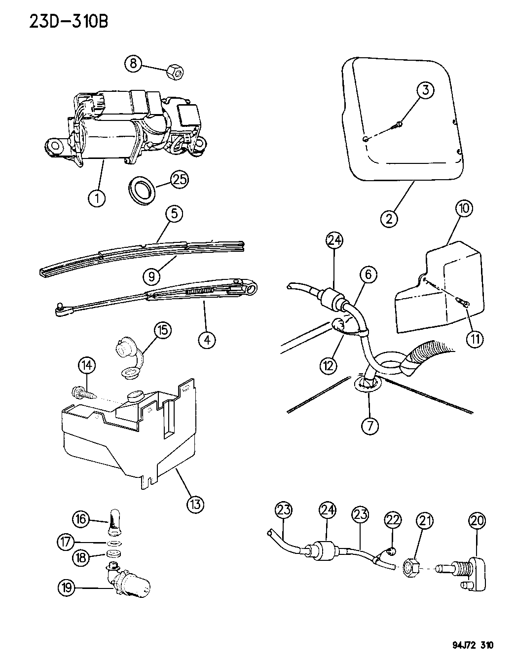 1995 Jeep Wrangler Rear Wiper Washer Mopar Parts Giant 95 Engine Schematics