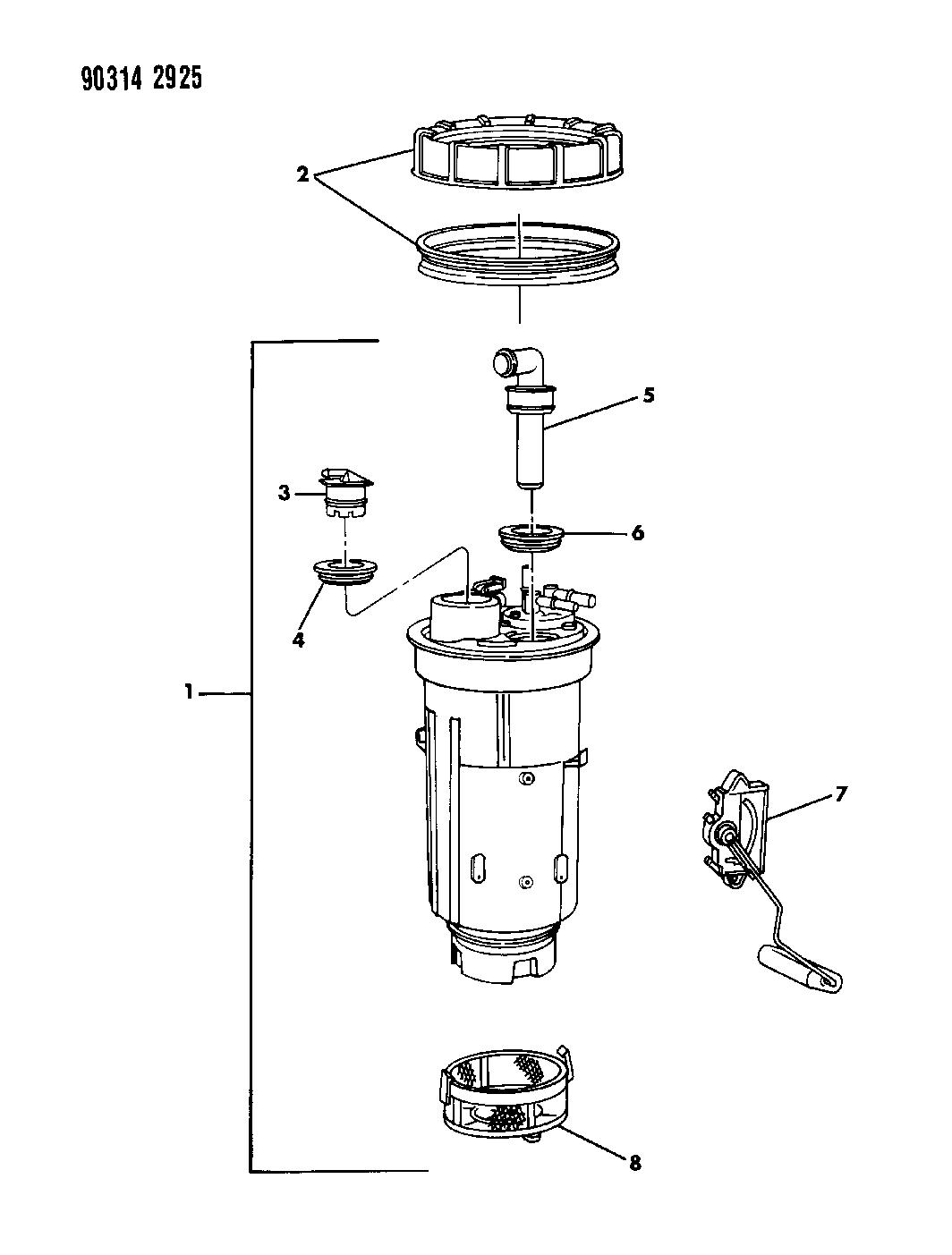 1993 Dodge Dakota Fuel Pump  U0026 Level Unit