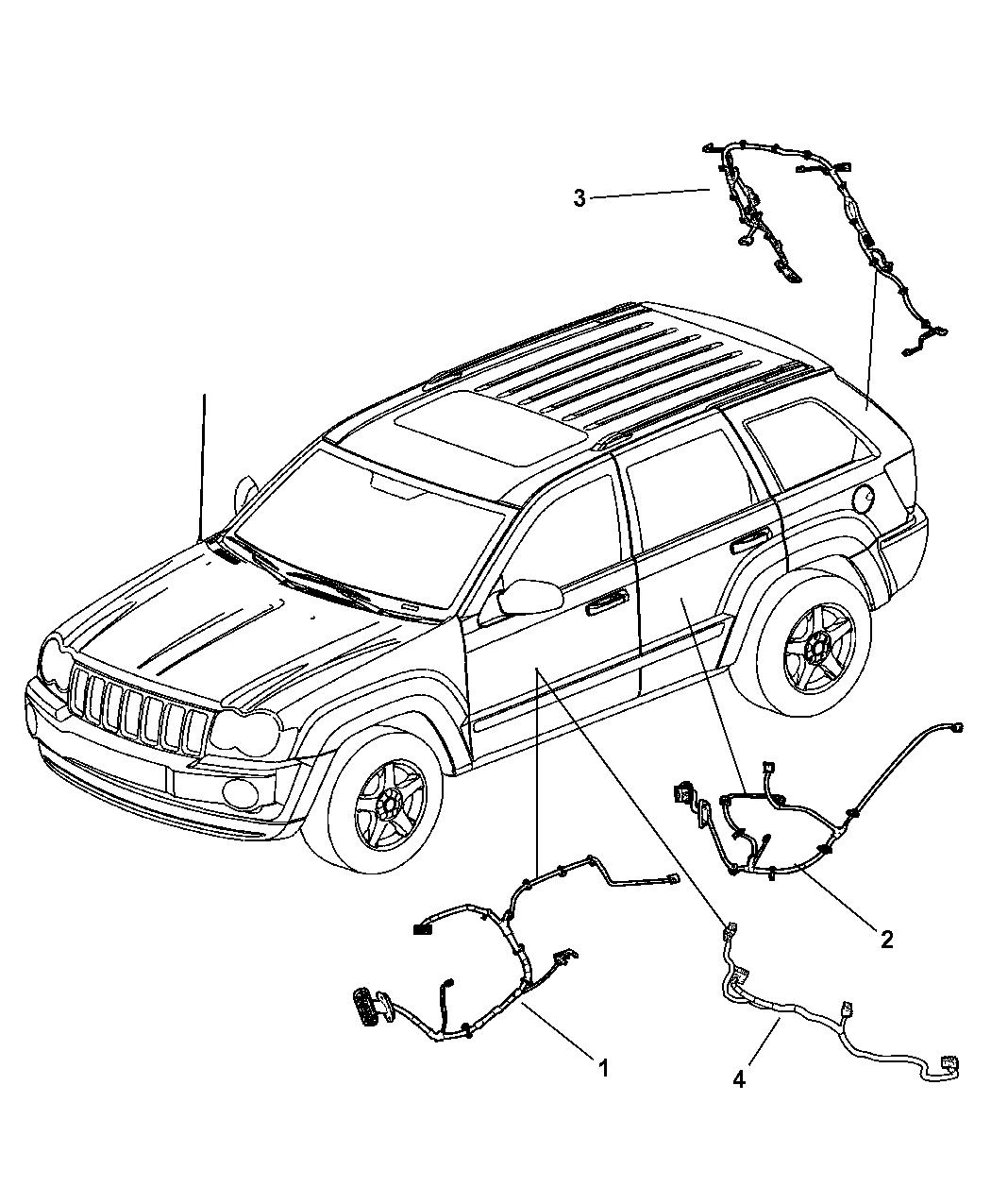2005 Jeep Grand Cherokee Wiring - Doors & Liftgate