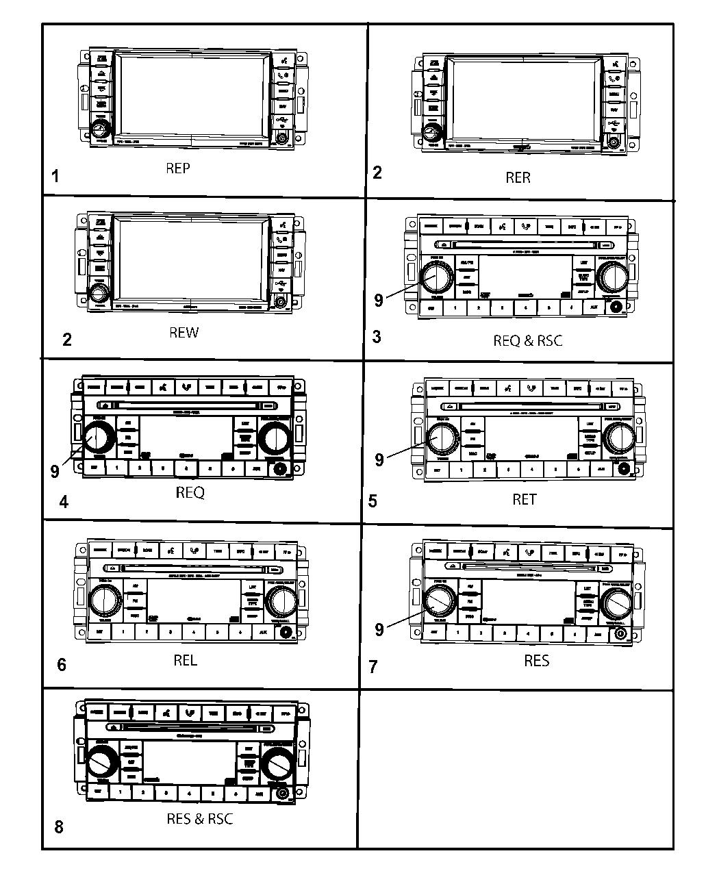 2008 Jeep Wrangler Radios - Mopar Parts Giant Mopar Ae Radio Wiring Diagram on