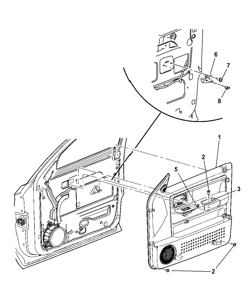 5HR031D5AC - Genuine Dodge PANEL-FRONT DOOR TRIM