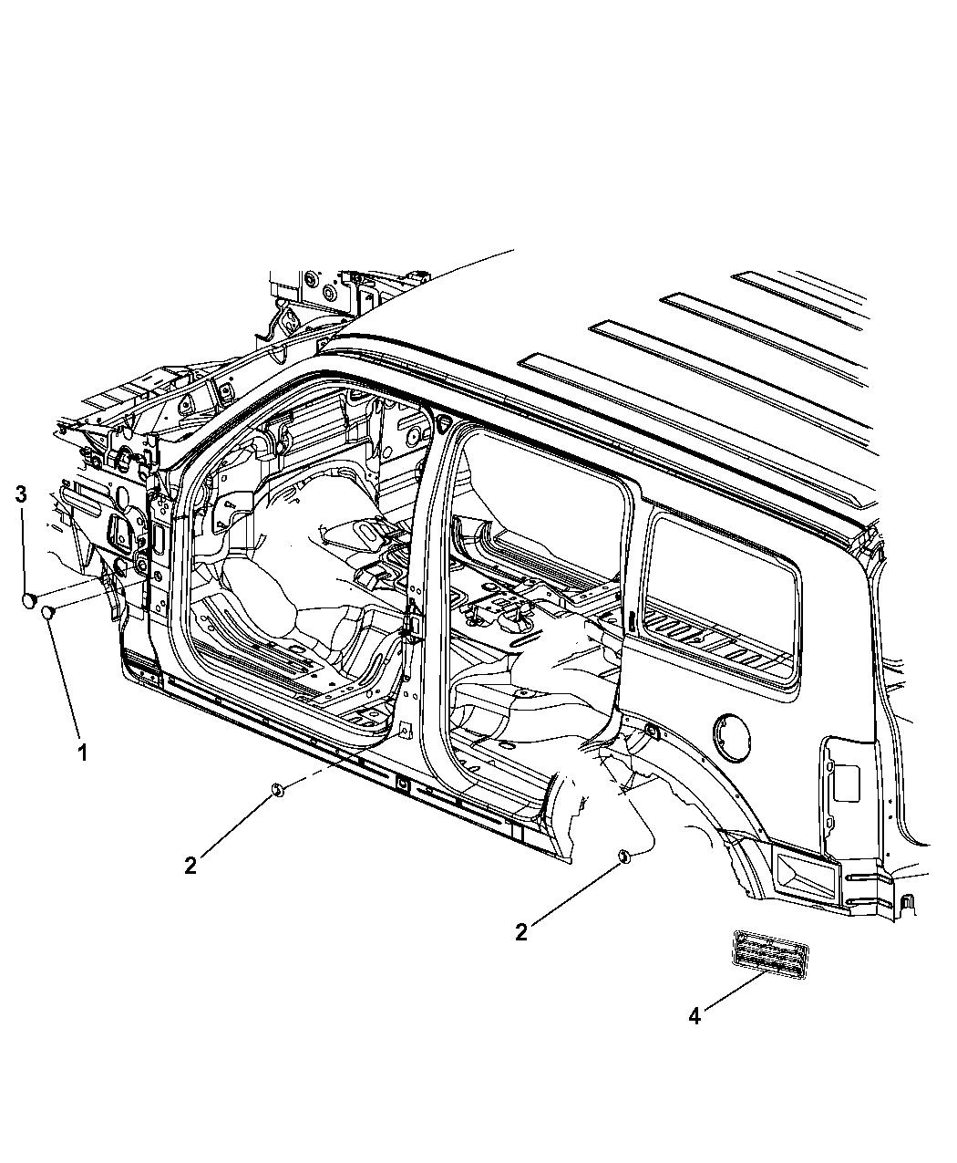 Admirable 2010 Jeep Liberty Body Plugs Exhauster Mopar Parts Giant Wiring Cloud Funidienstapotheekhoekschewaardnl