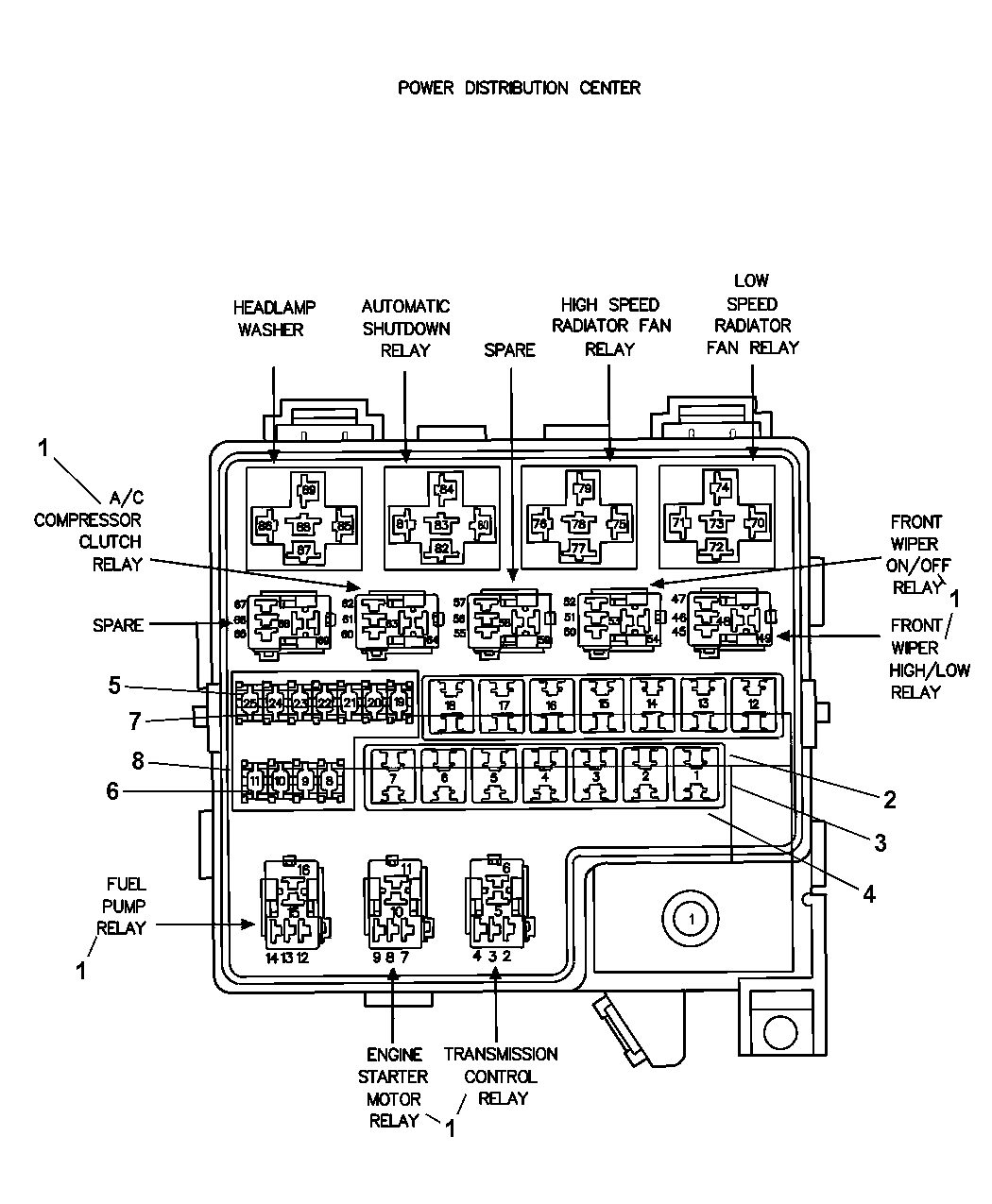 2 5 Dodge Avenger Engine Diagram Wiring Library 7 2010 Power Distribution Center