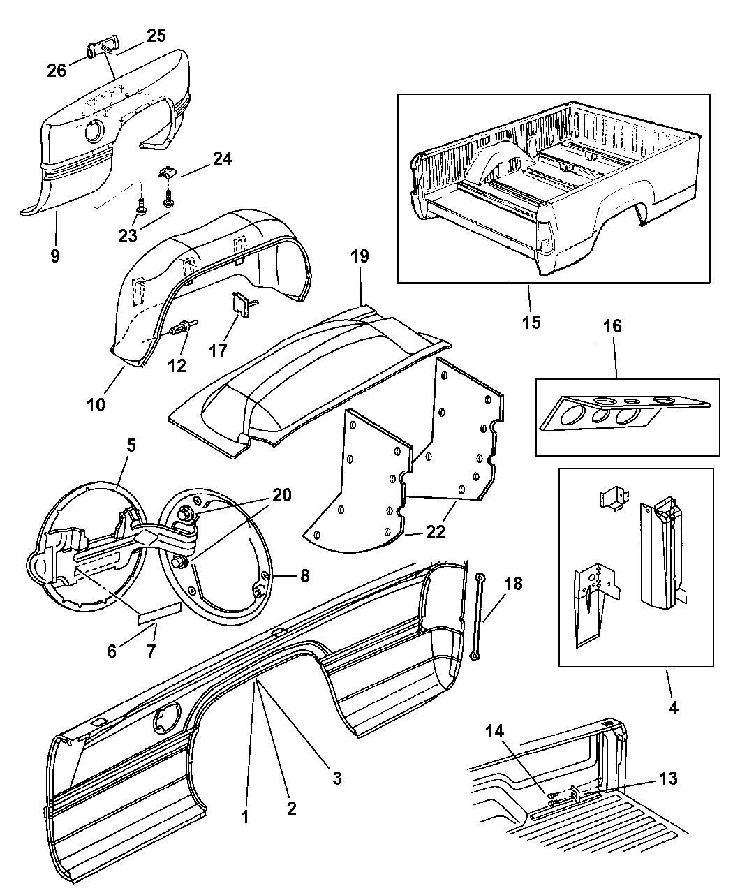 Genuine Mopar FENDER-DUAL WHEEL