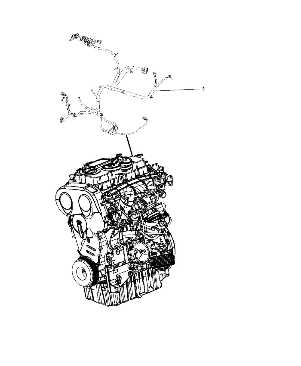 2014 Dodge Journey Wiring Powertrain Mopar Parts Giant Harness Thumbnail 2
