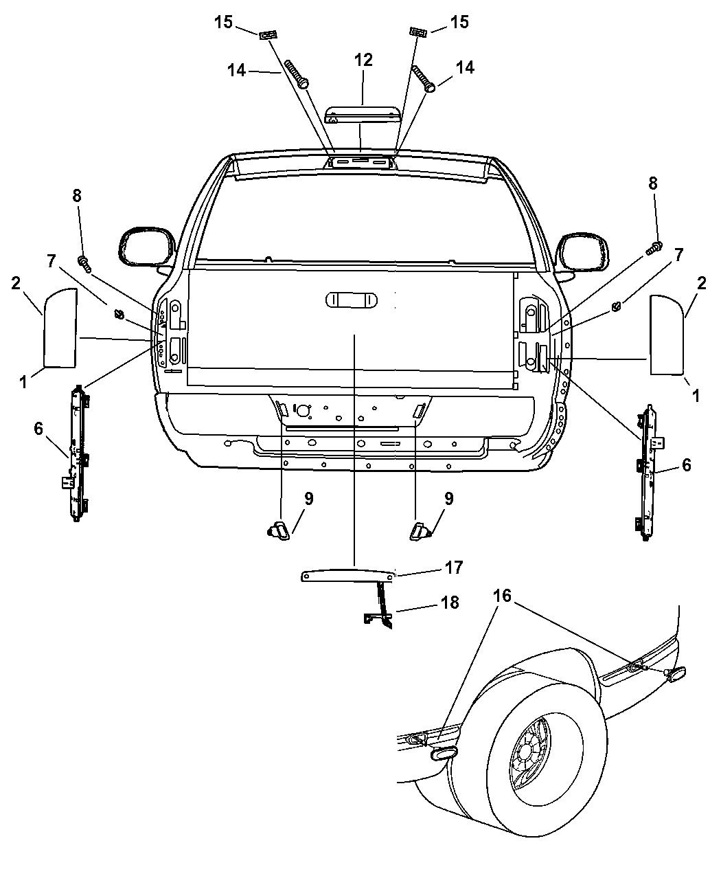 2005 Dodge Ram Tail Light Parts Diagram Wiring Diagram Photos For