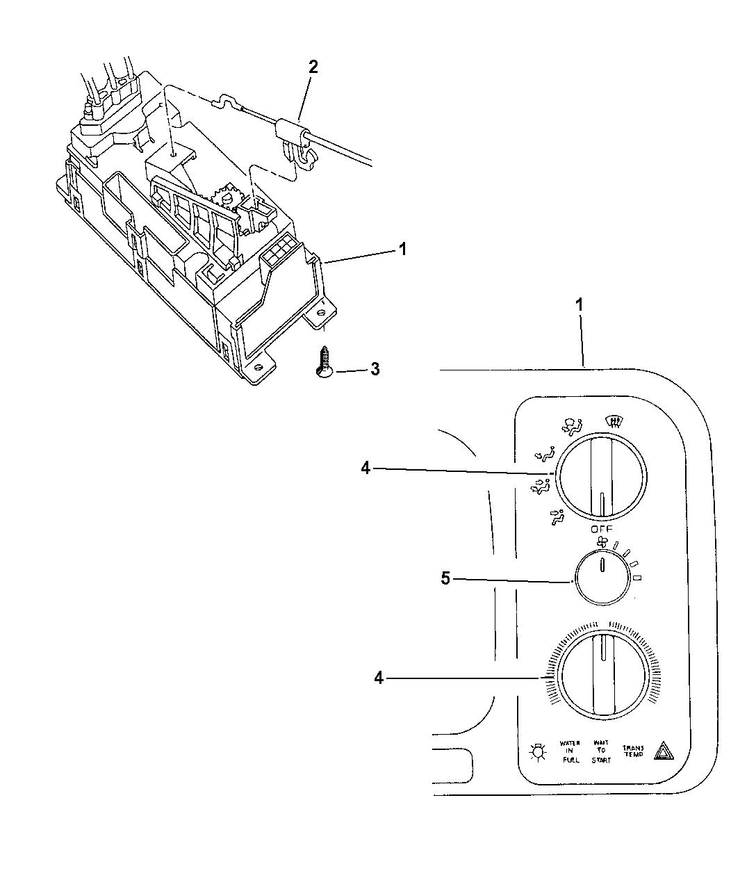 1997 Dodge Ram 3500 Control, Heater - Mopar Parts Giant