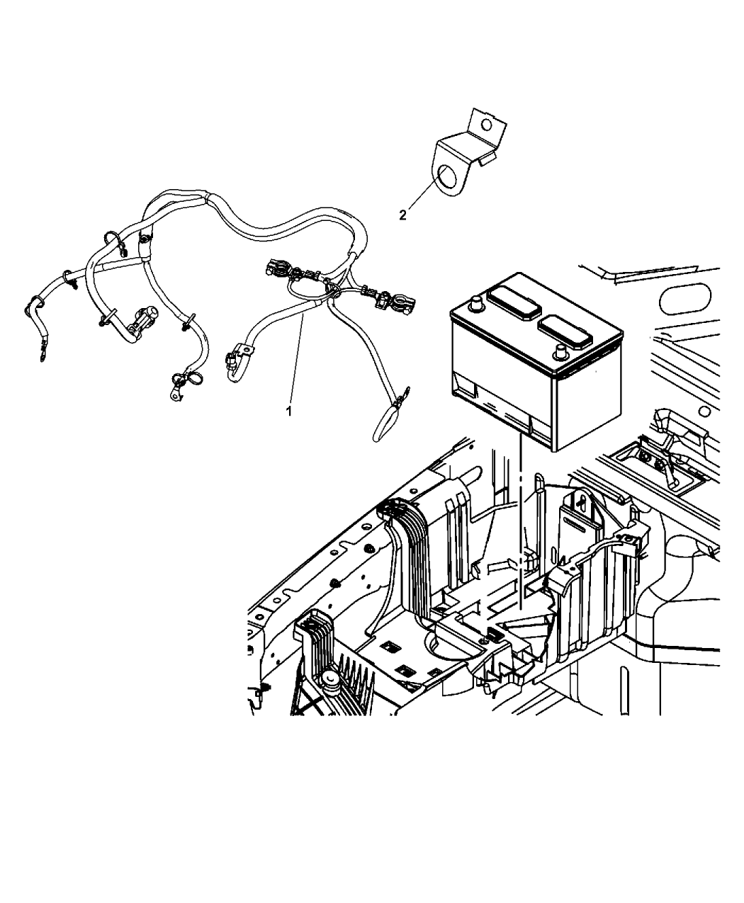 2009 Jeep Wrangler Unlimited Radio Wiring Diagram: Genuine Jeep WIRING-BATTERY