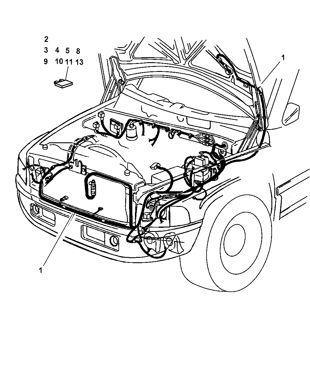 56045940ae Genuine Dodge Wiring Headlamp To Dash