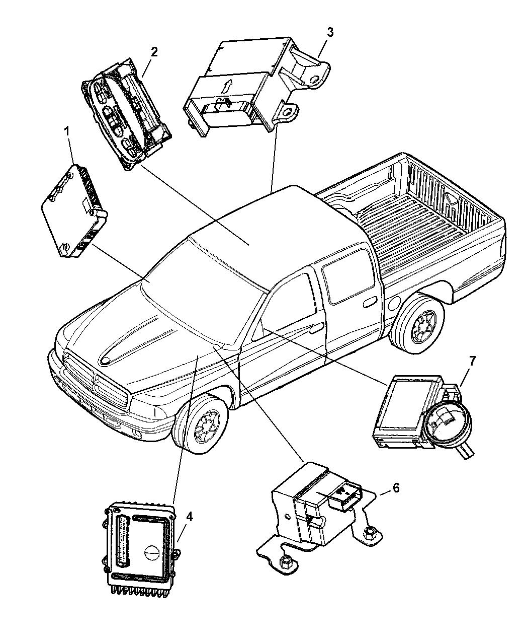 1993 Dodge Ram 50 Regular Cab Transmission: Genuine Dodge MODULE-TIME AND ALARM