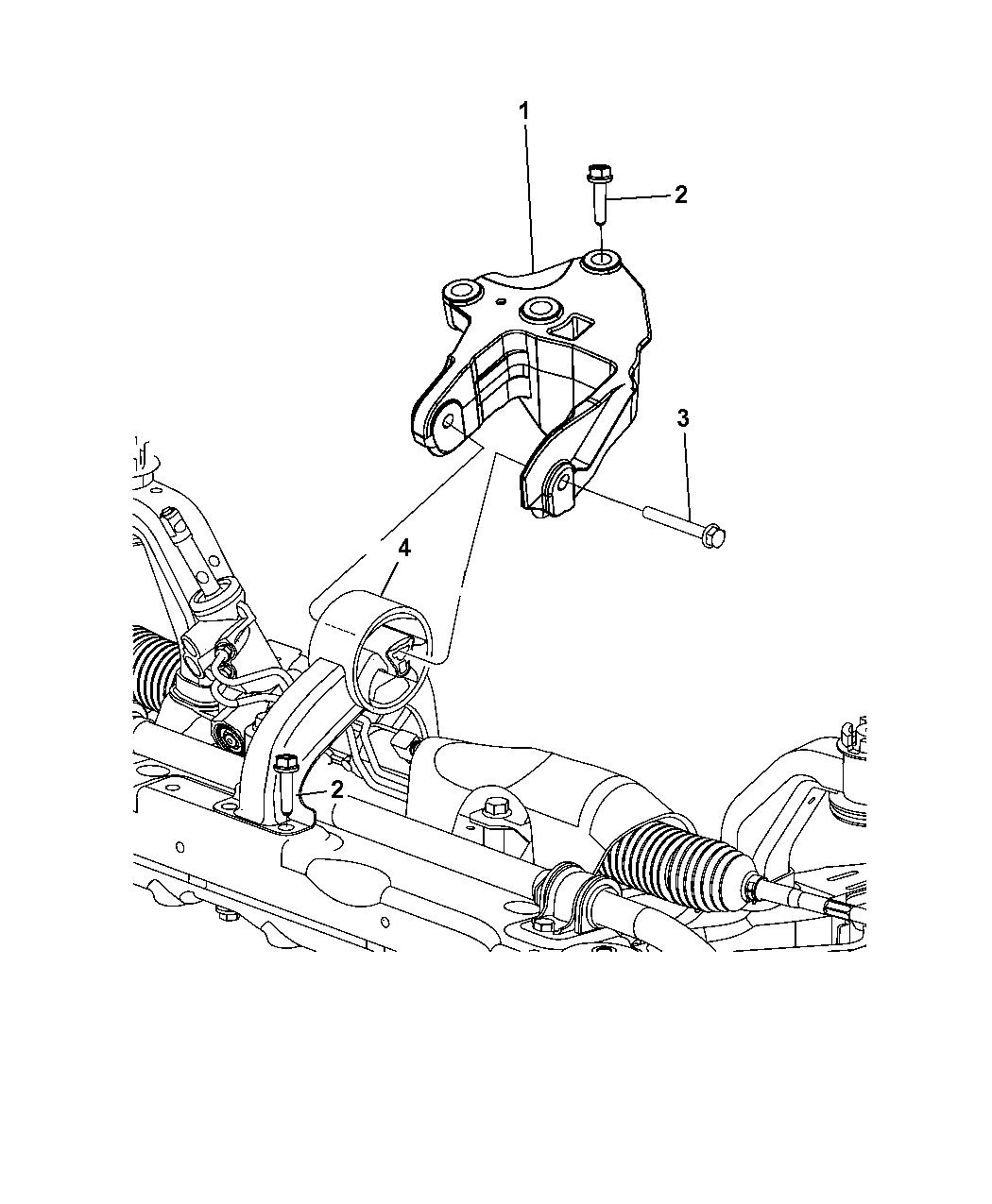 5085510AB - Genuine Chrysler ISOLATOR