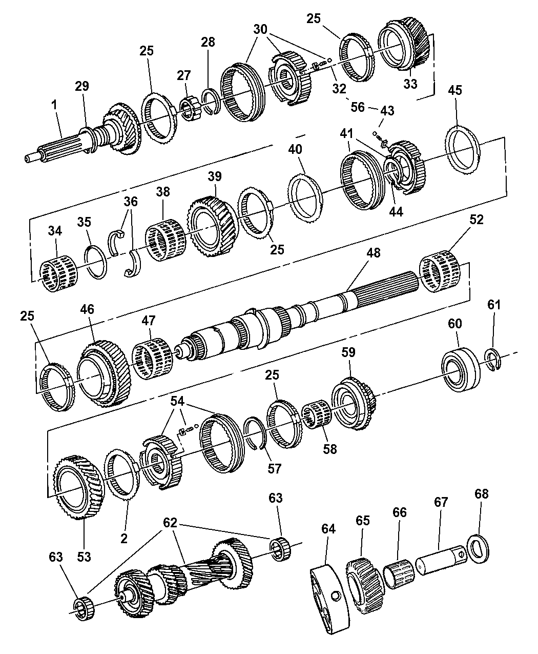 Genuine Dodge BEARING-INPUT SHAFT