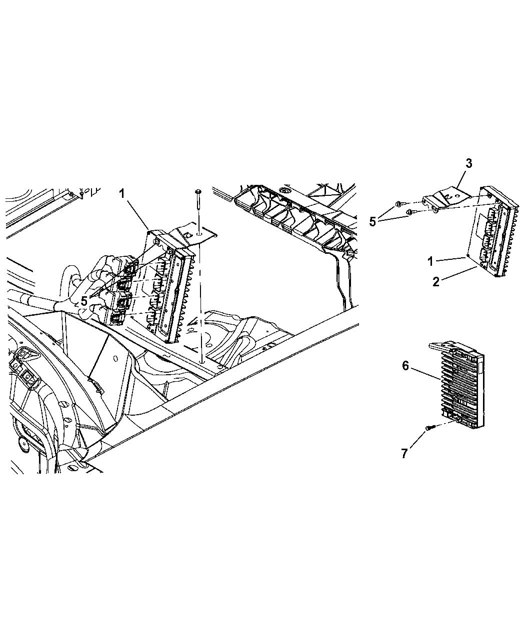 4606834AC  Genuine    Chrysler    MODULEPOWERTRAIN CONTROL