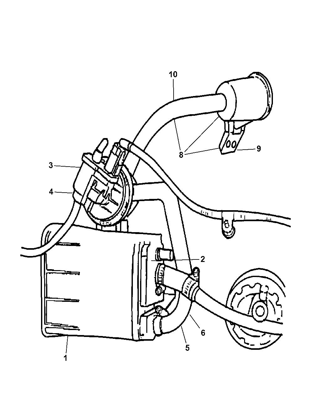 2004 dodge stratus sedan vacuum canister  u0026 leak detection pump