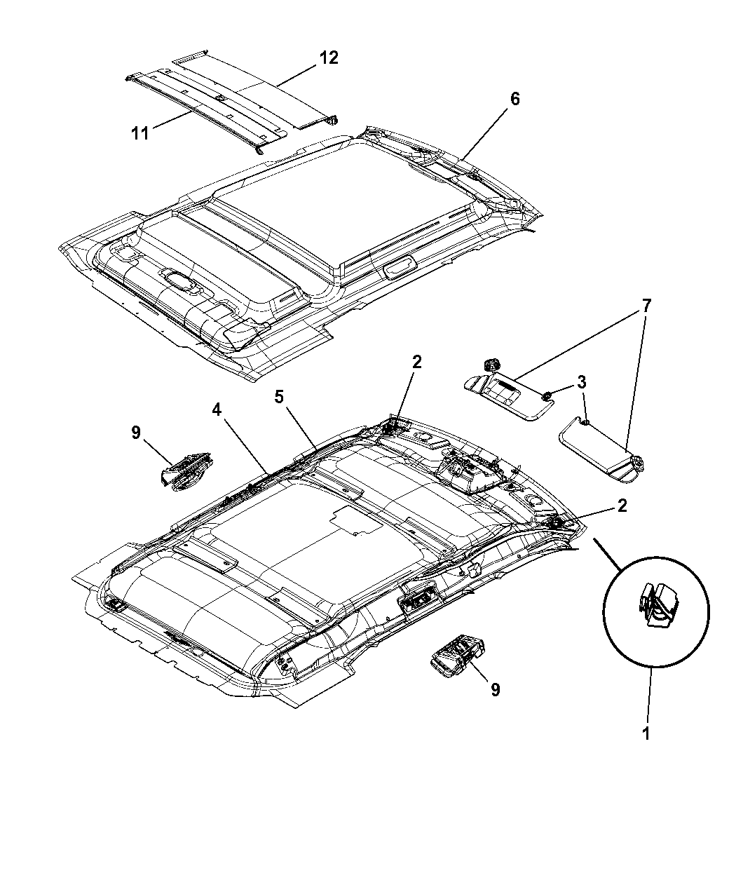jeep liberty interior parts diagram