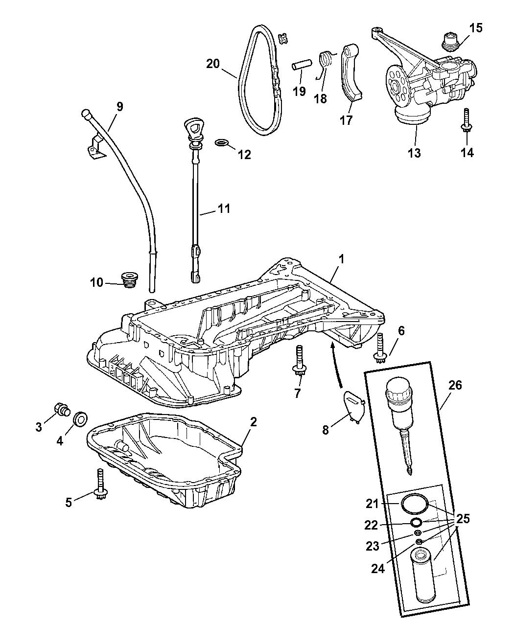 2004 Chrysler Crossfire Engine Oiling