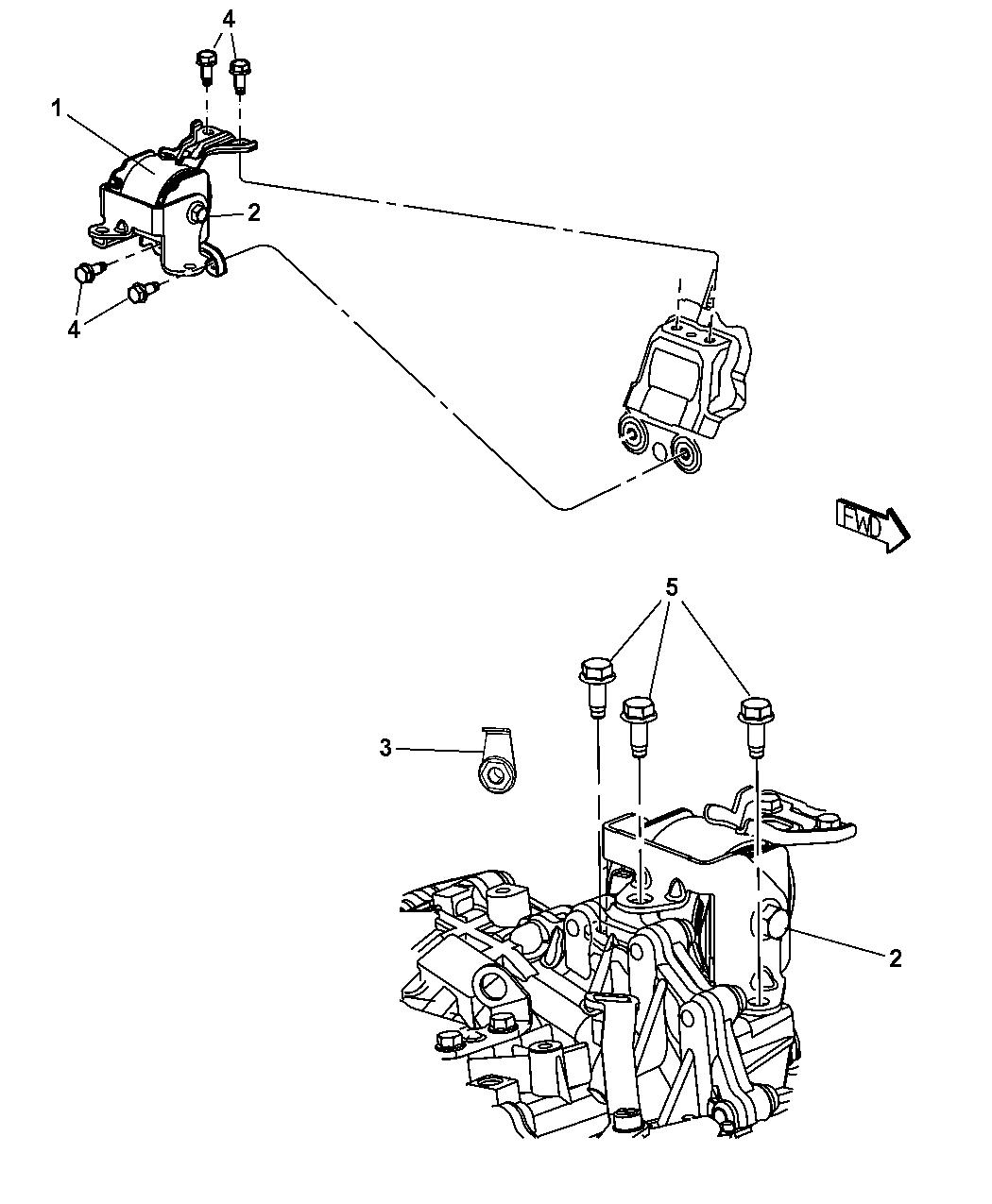 Genuine Mopar Insulator-Engine Mount 5105489AK