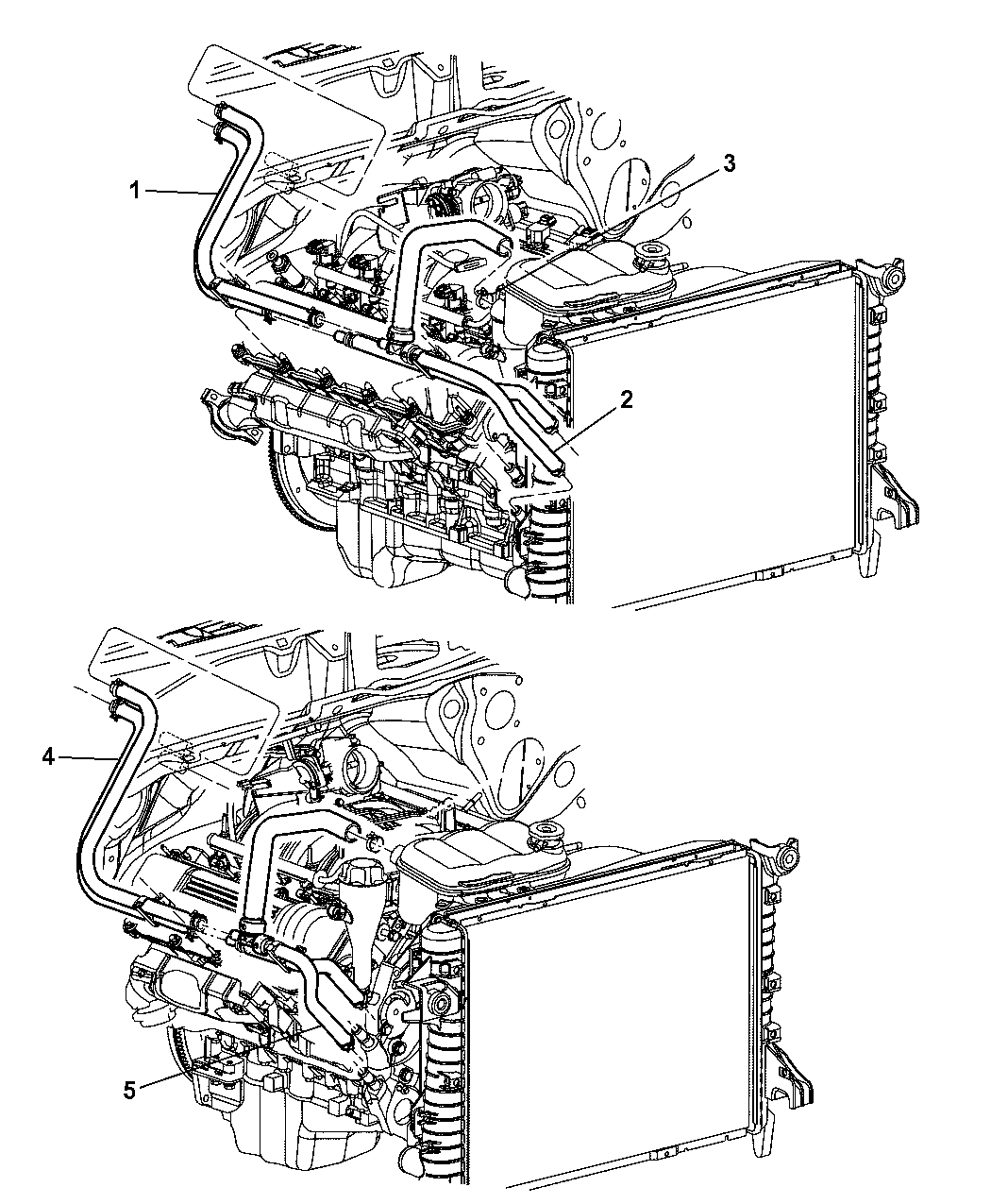 5080544aa genuine dodge bracket a c and heater hose rh moparpartsgiant com 2001 chrysler town and country heater hose diagram chrysler town and country heater hose diagram