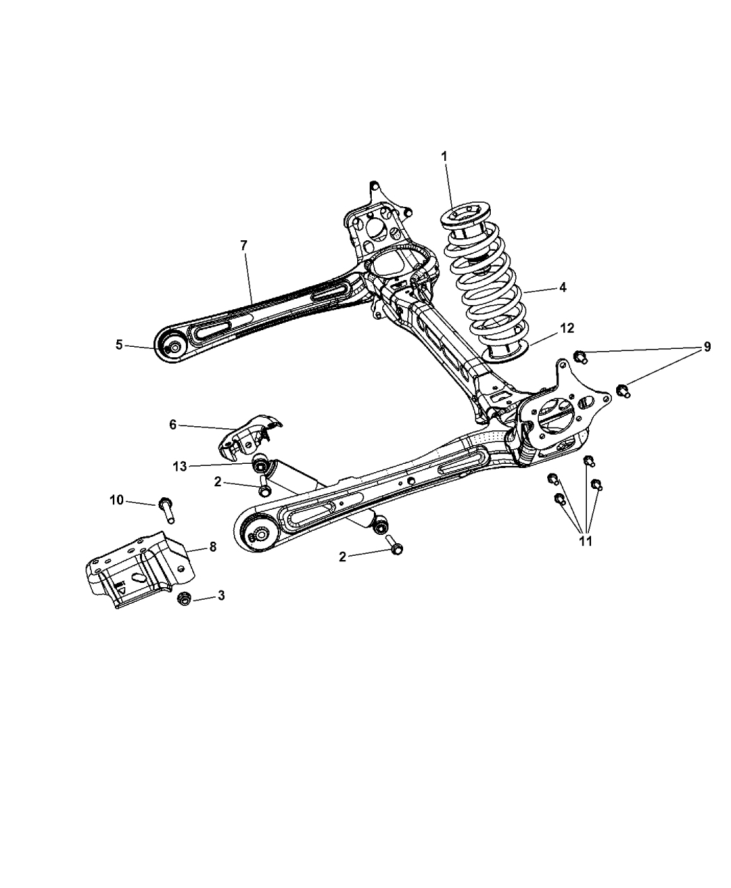 2013 chrysler town  u0026 country suspension