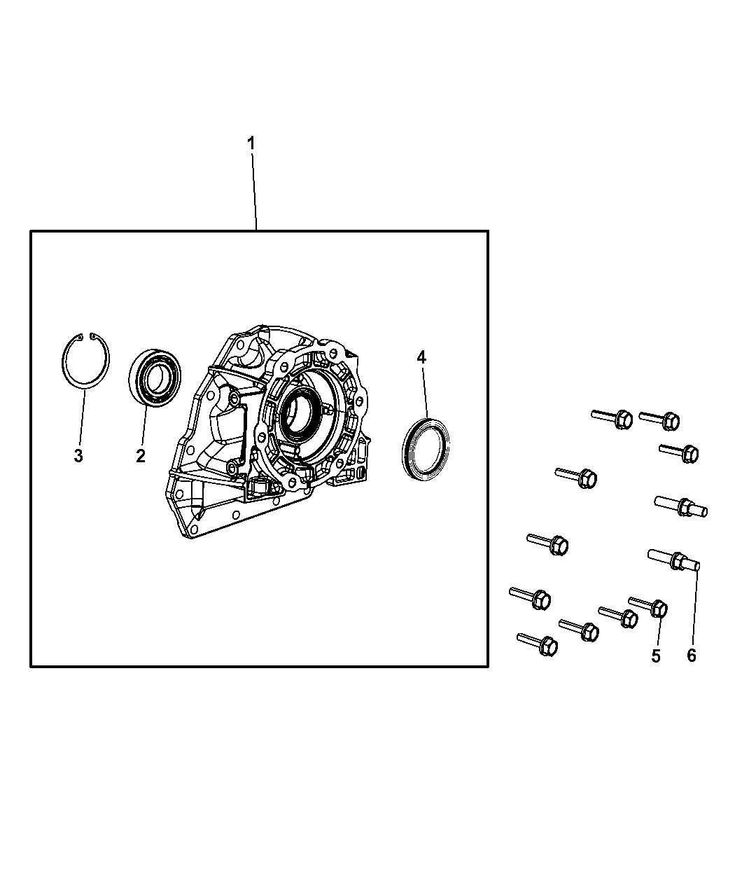 52119637aa Genuine Mopar Adapter Transfer Case