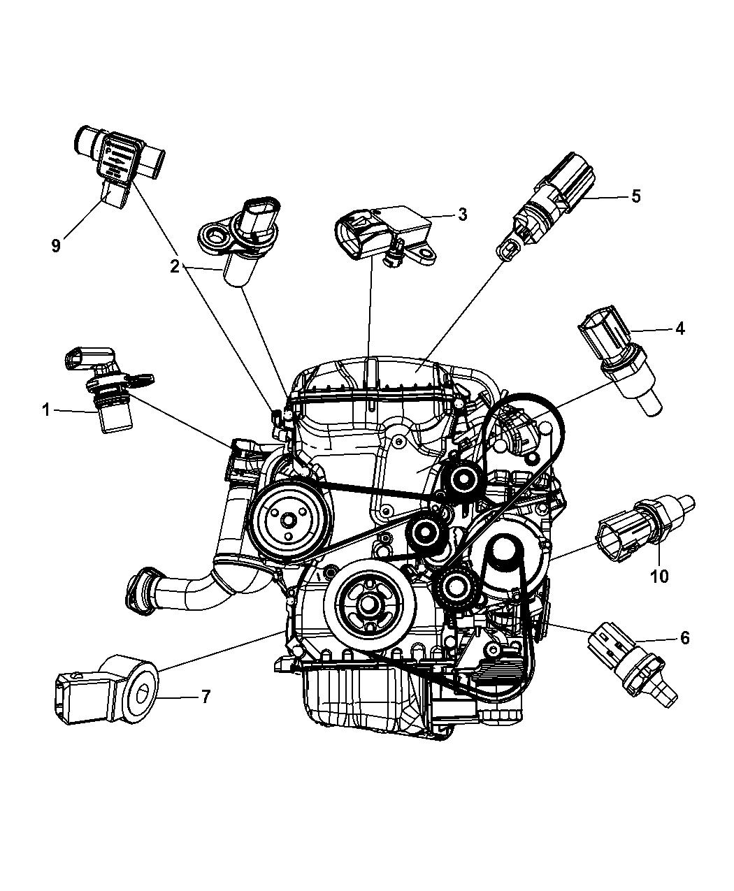 2010 chrysler sebring sensors engine mopar parts giant caterpillar engine diagrams 2010 chrysler engine diagram #3