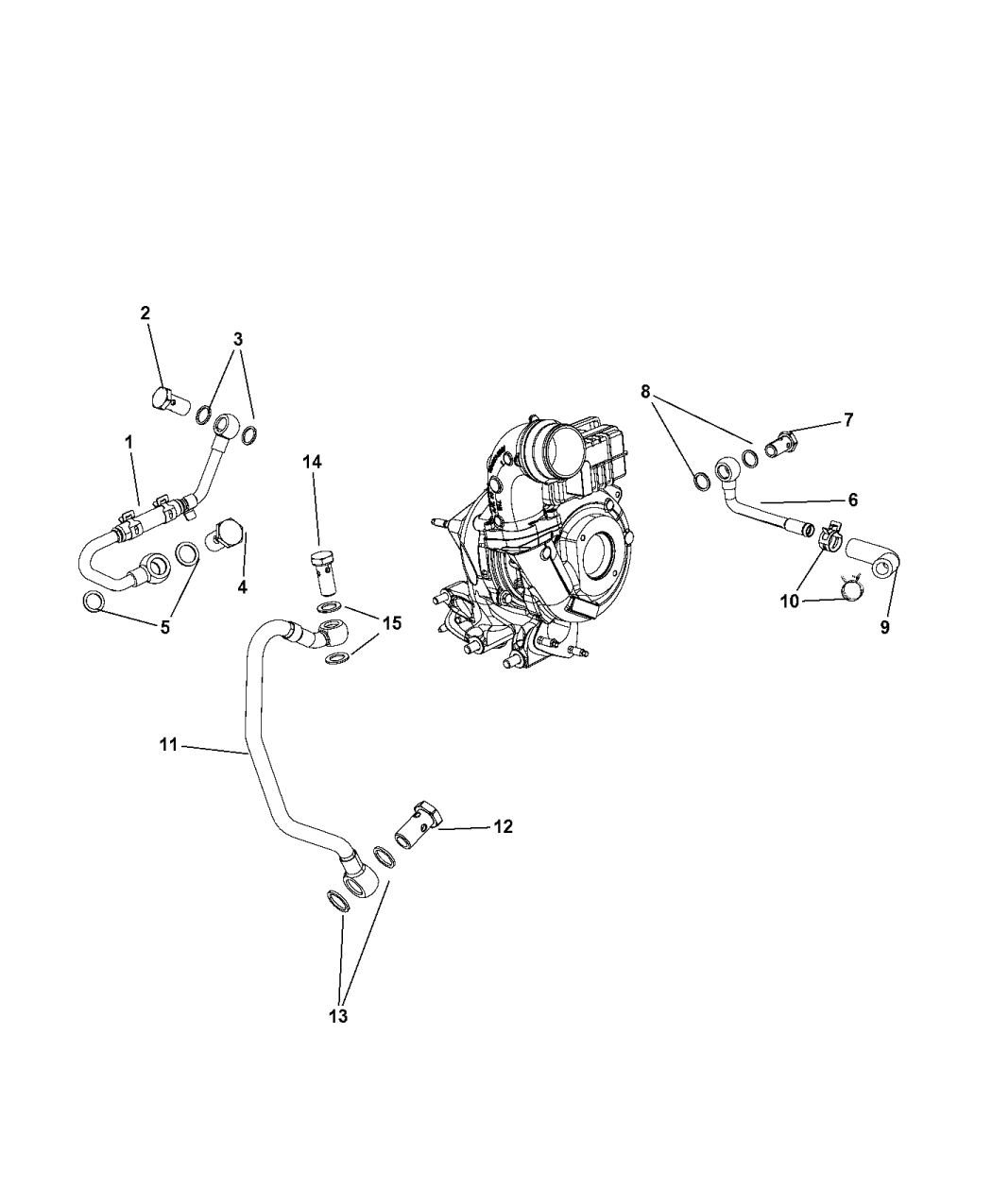 2013 Jeep Grand Cherokee Turbocharger Cooling System Diagram