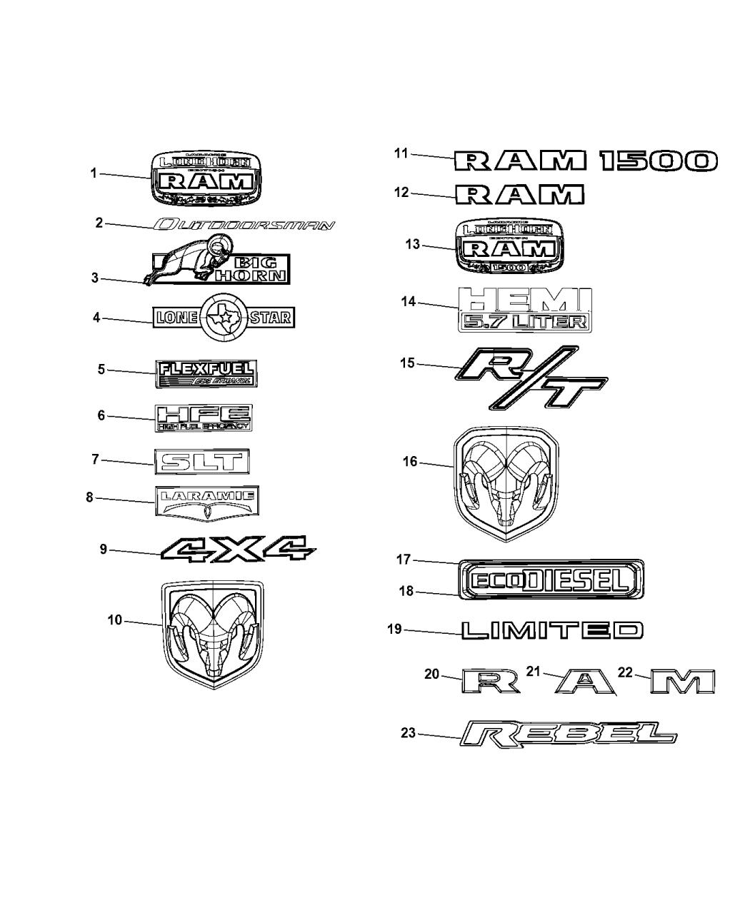 2015 Ram 1500 Nameplates Emblem Medallions M1b Condenser Wiring Diagram