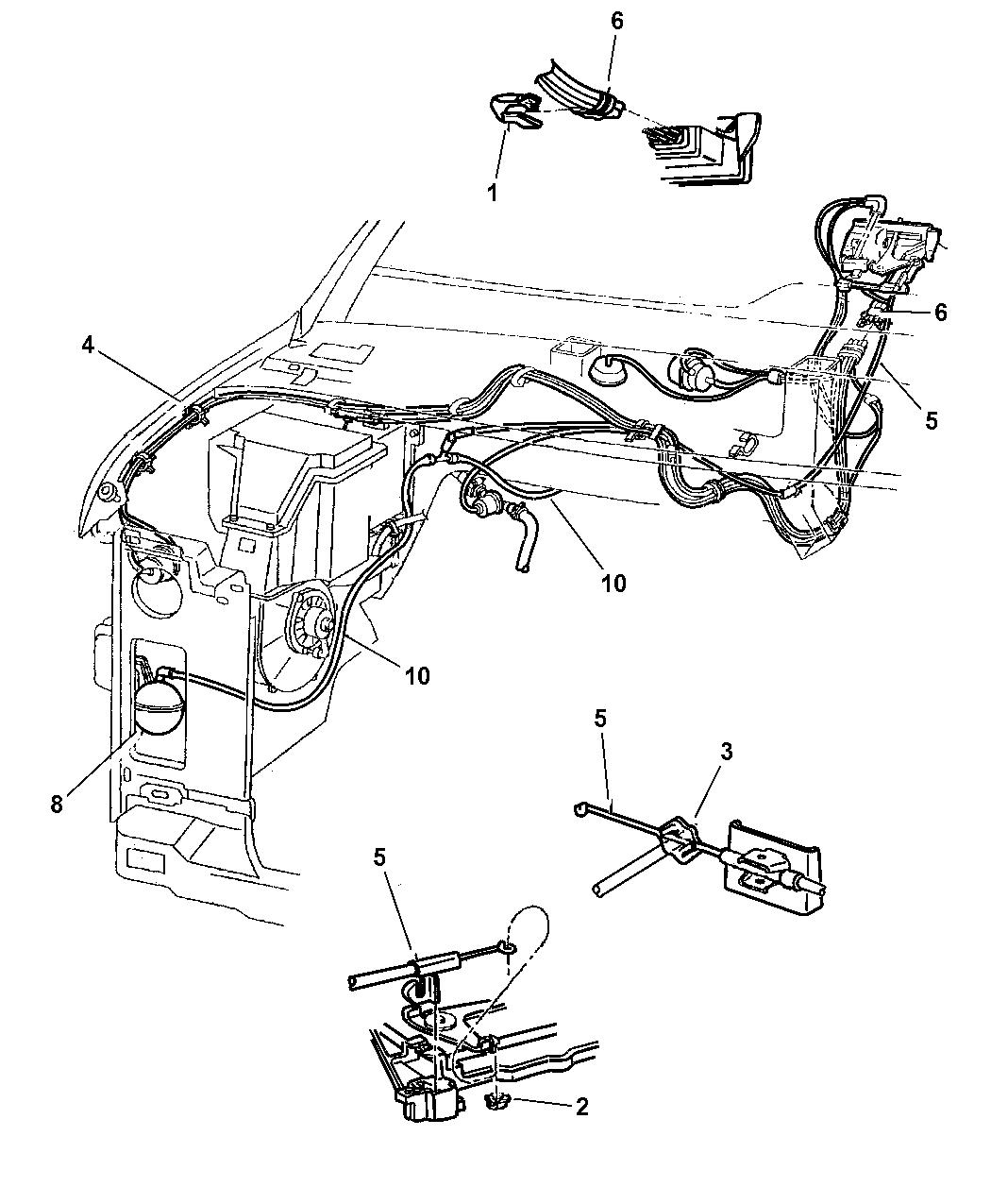1997 dodge ram van vacuum lines