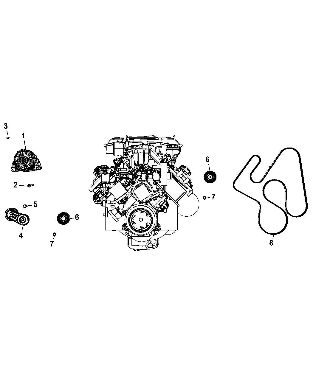 56044380aj Genuine Mopar Alternatr Engine