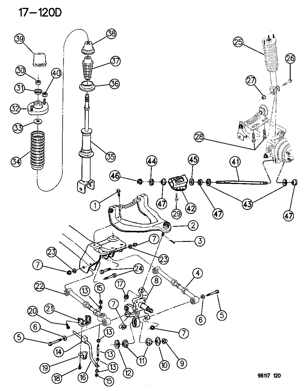1996 Dodge Stratus Suspension - Rear