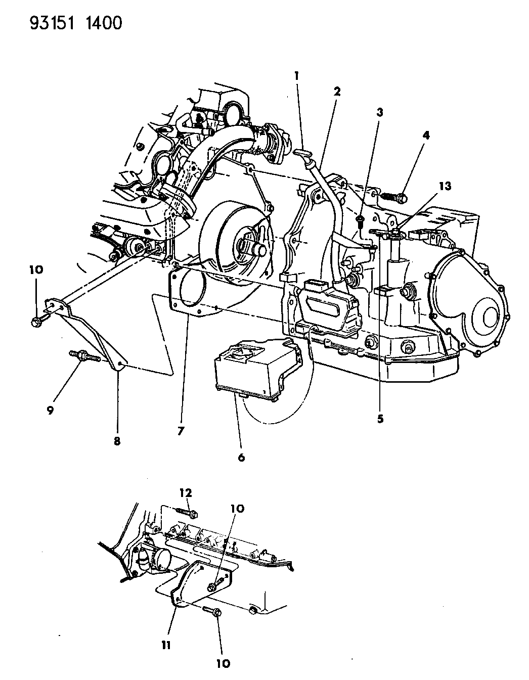 1993 dodge grand caravan transaxle mounting