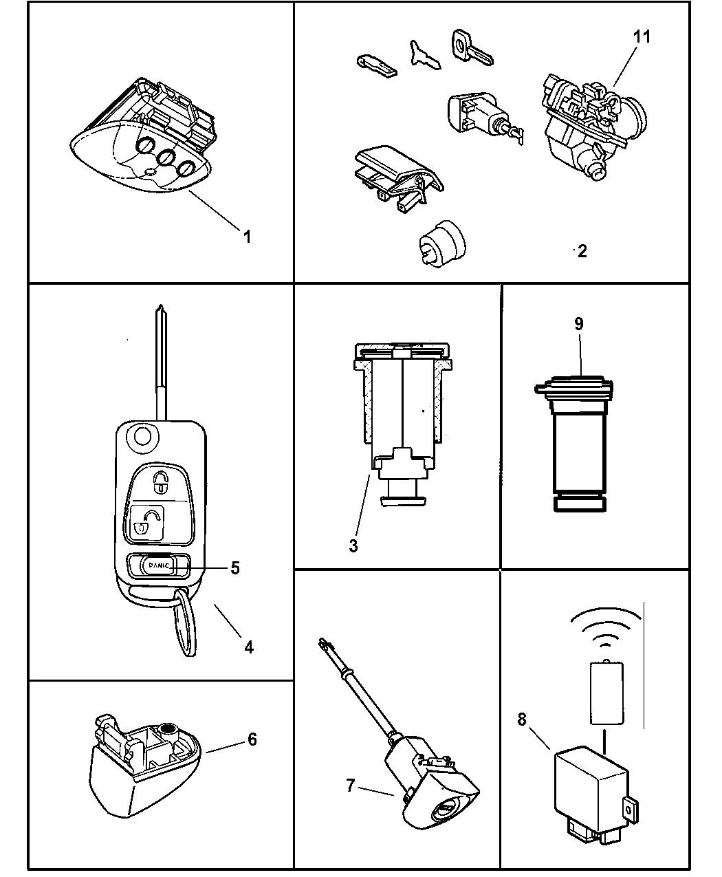 mopar 5099541aa  diagram of chrysler lock cyl #12