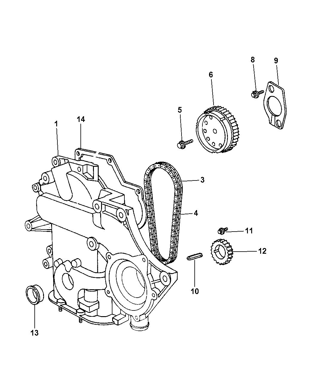 2005 Dodge Grand Caravan Timing Chain & Cover - Mopar Parts