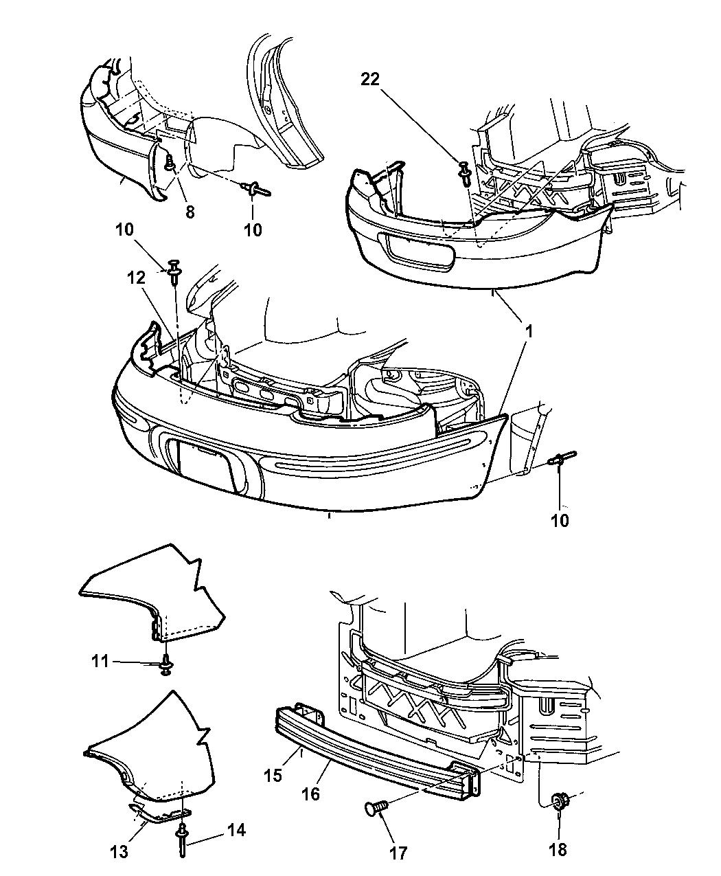 Chrysler 300m Bumper Parts Diagram. Chrysler. Auto Wiring