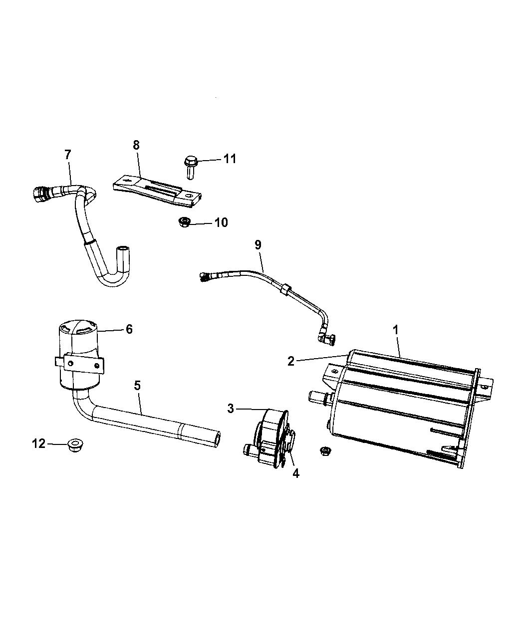 2008 Dodge Caliber Vapor Canister Leak Detection Pump Fuel Filter Location