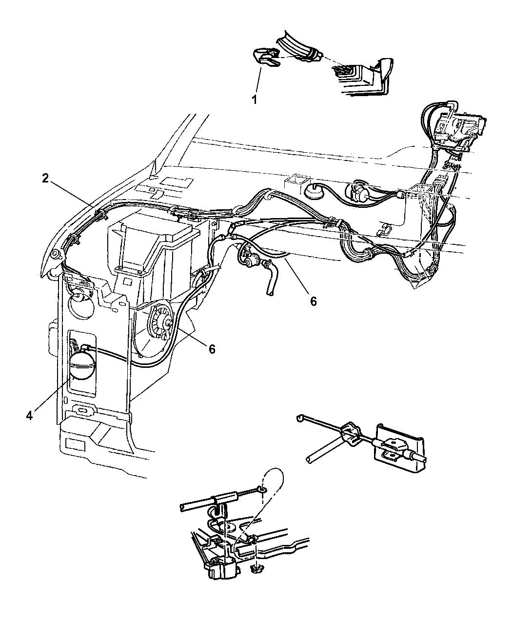 1999 dodge ram van vacuum lines