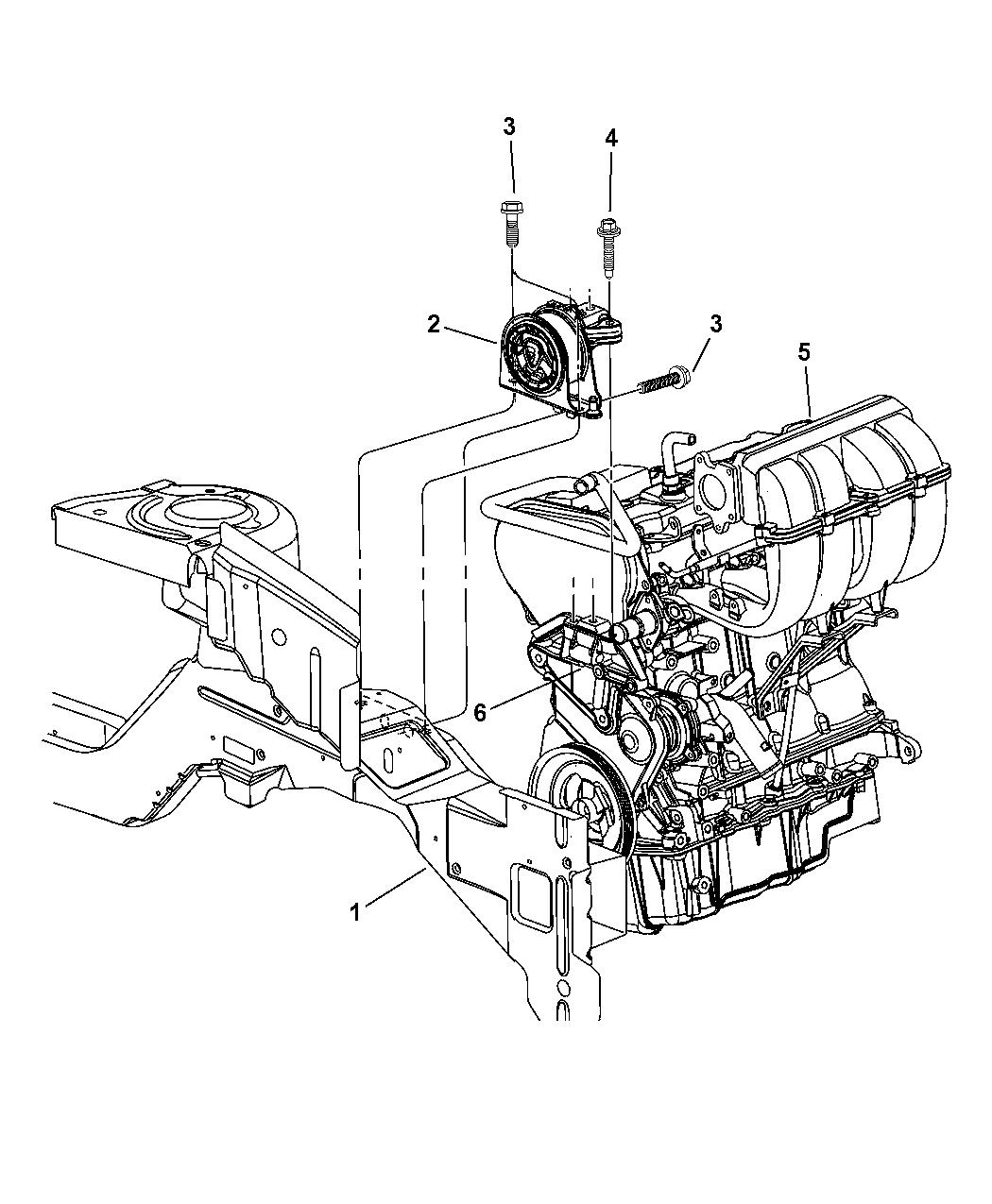 2004 dodge grand caravan mount, timing belt side engine 2004 dodge caravan car 2004 dodge caravan engine schematics #23