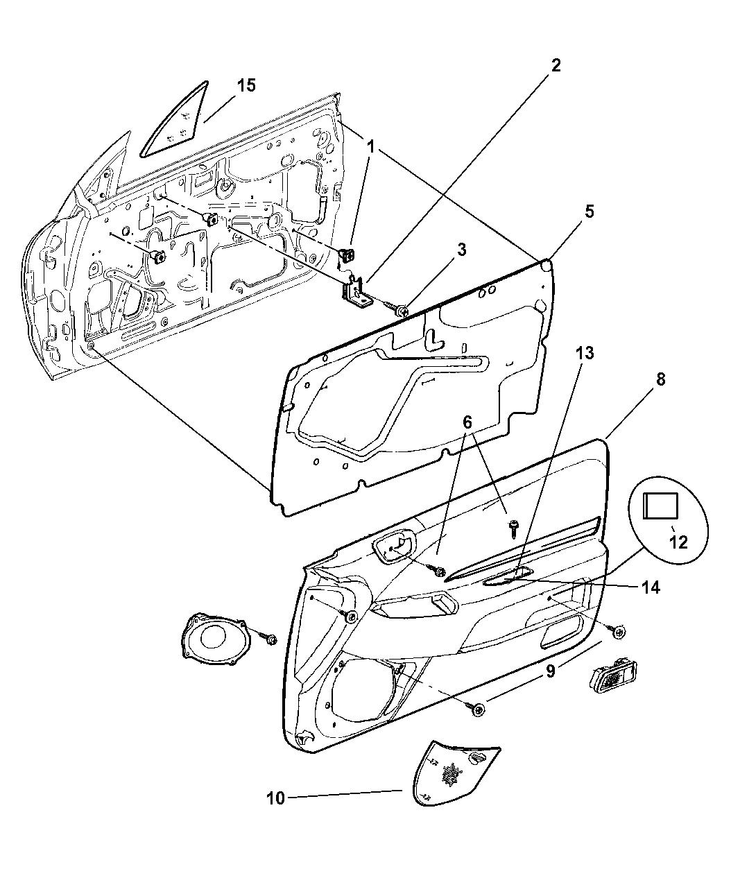 Genuine Chrysler GRILLE-SPEAKER