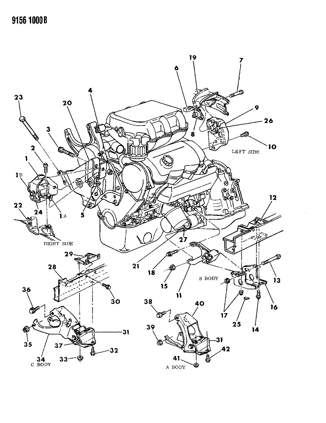 1989 Dodge Grand Caravan Engine Mounting - Thumbnail 1