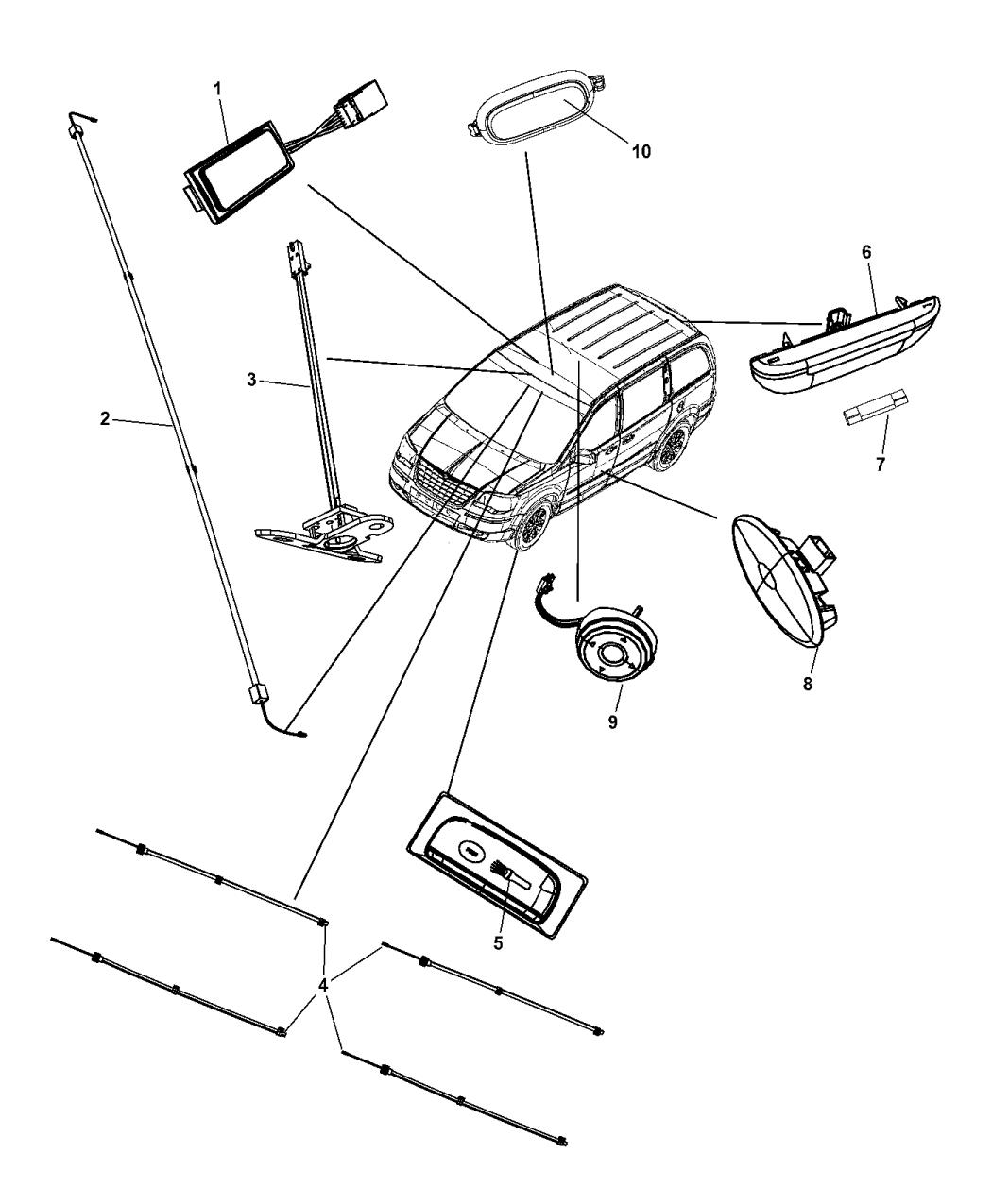 2015 Dodge Grand Caravan Lamps Interior Mopar Parts Giant 2014 Wiring Diagram