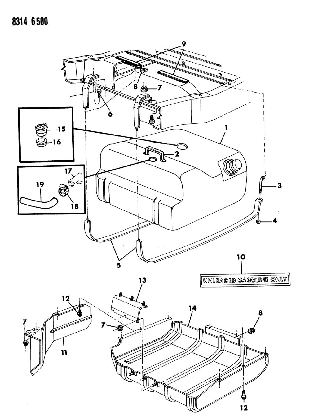 1988 Dodge Ramcharger Fuel Tank - Thumbnail 2